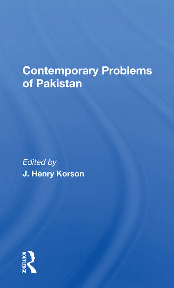 Contemporary Problems Of Pakistan book cover