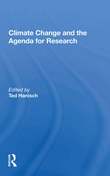 Climate Change And The Agenda For Research book cover