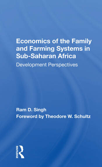 Economics Of The Family And Farming Systems In Sub-saharan Africa Development Perspectives book cover
