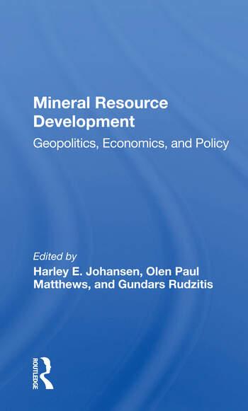 Mineral Resource Development Geopolitics, Economics, And Policy book cover