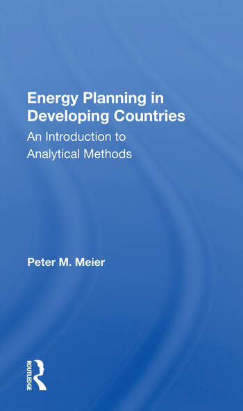 Energy Planning In Developing Countries An Introduction To Analytical Methods book cover