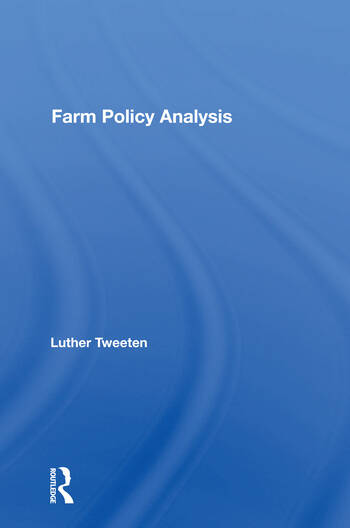 Farm Policy Analysis book cover