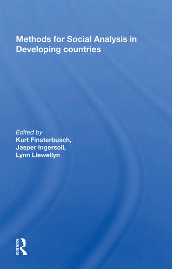 Methods For Social Analysis In Developing Countries book cover