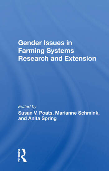 Gender Issues In Farming Systems Research And Extension book cover