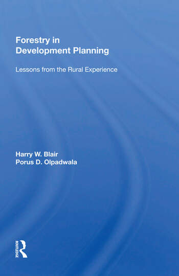 Forestry In Development Planning Lessons From The Rural Experience book cover