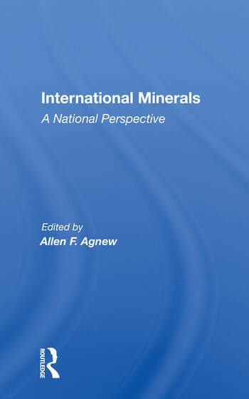 International Minerals A National Perspective book cover