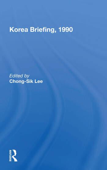 Korea Briefing, 1990 book cover