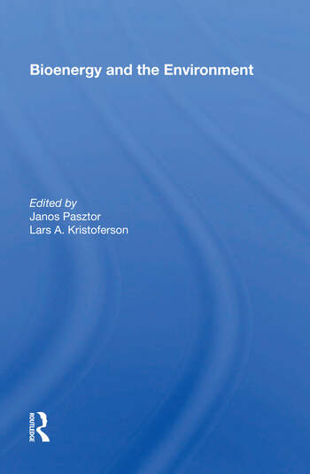 Bioenergy And The Environment book cover