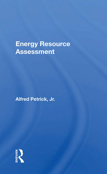 Energy Resource Assessment book cover