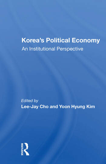 Korea's Political Economy An Institutional Perspective book cover