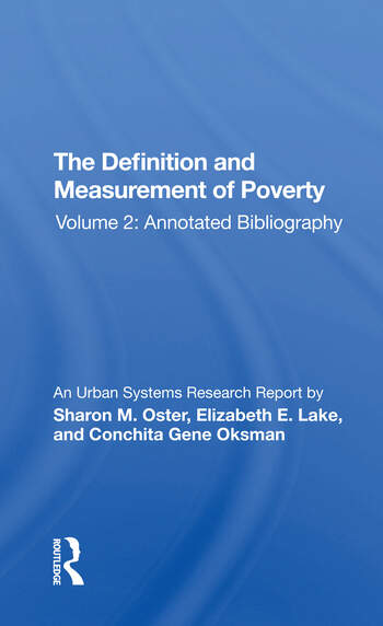 Def-measuremnt Poverty-2/h book cover