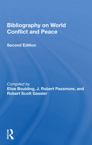 Bibliography On World Conflict And Peace book cover