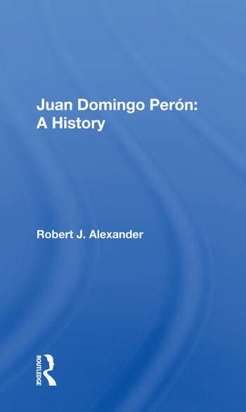 Juan Domingo Peron A History book cover