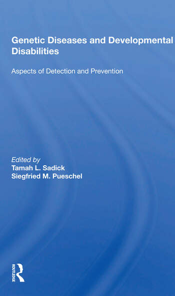 Genetic Diseases And Development Disabilities: Aspects Of Detection And Prevention book cover