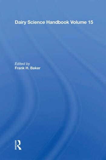 Dairy Science Handbook Vol. 15 book cover