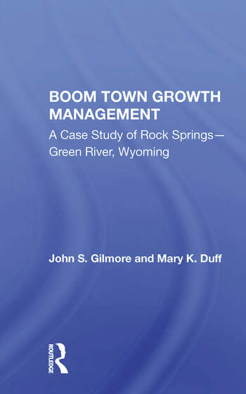 Boom Town Growth Managem/h book cover