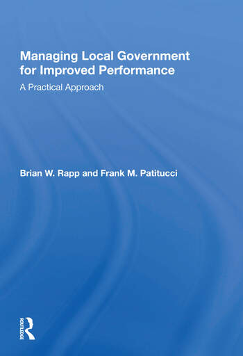 Managing Local Government For Improved Performance A Practical Approach book cover