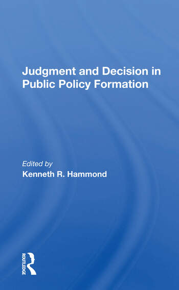 Judgement And Decision/h book cover