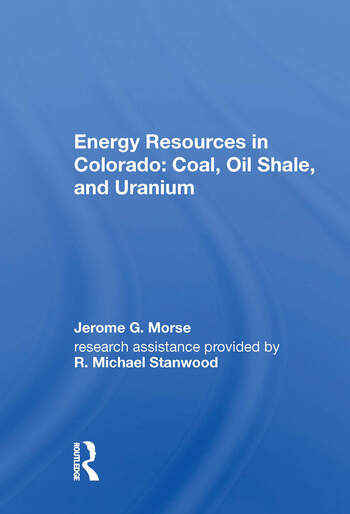 Energy Resources In Colo/h book cover