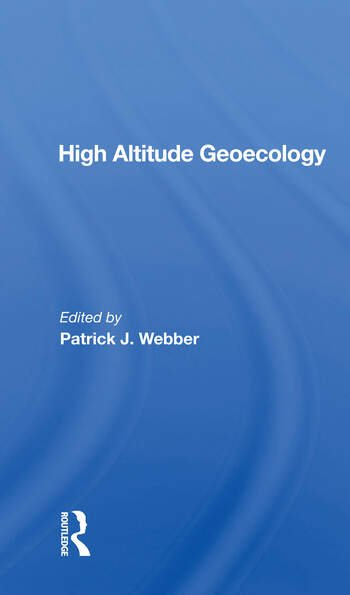 High Altitude Geoecology book cover