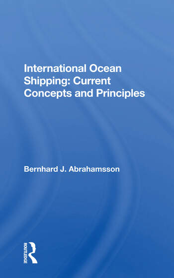 International Ocean Shipping Current Concepts And Principles book cover