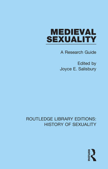 Medieval Sexuality A Research Guide book cover