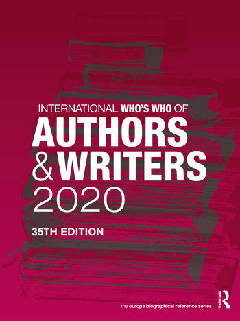 International Who's Who of Authors and Writers 2020 book cover
