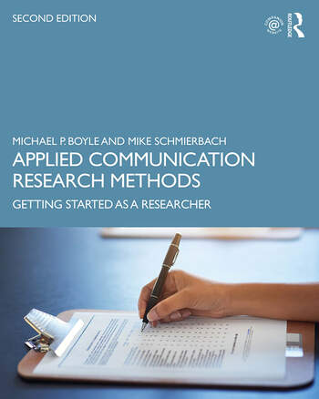 Applied Communication Research Methods Getting Started as a Researcher book cover