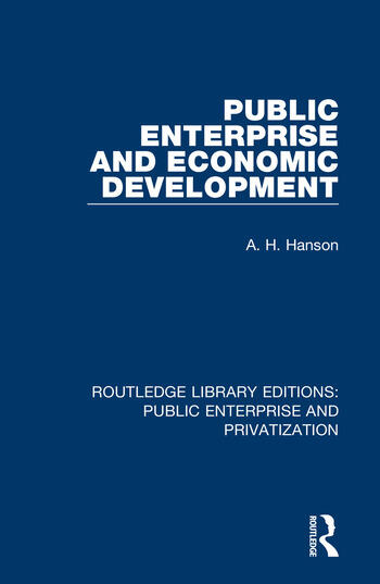 Public Enterprise and Economic Development book cover