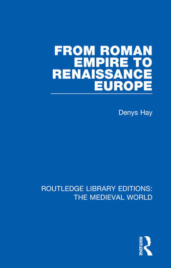 From Roman Empire to Renaissance Europe book cover