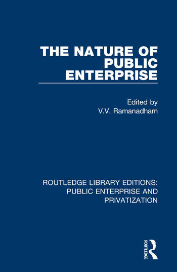 The Nature of Public Enterprise book cover