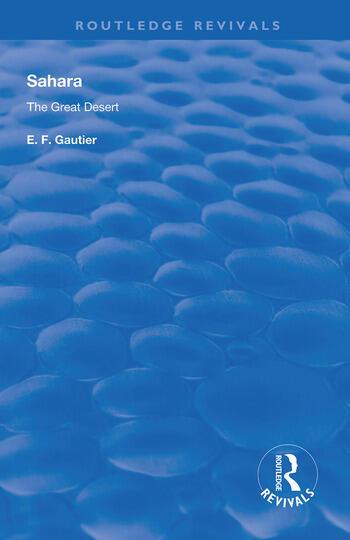 Sahara The Great Desert book cover
