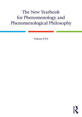 The New Yearbook for Phenomenology and Phenomenological Philosophy Volume 17 book cover