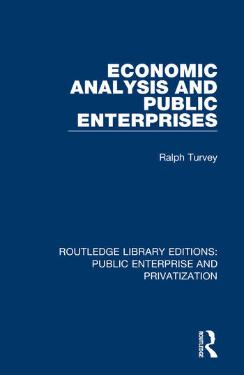 Economic Analysis and Public Enterprises book cover
