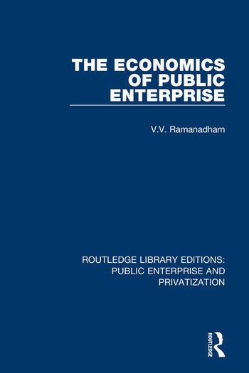 The Economics of Public Enterprise book cover