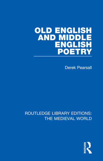 Old English and Middle English Poetry book cover