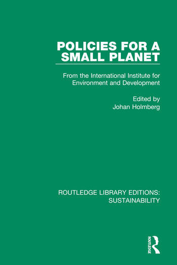 Policies for a Small Planet From the International Institute for Environment and Development book cover