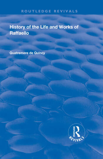 History of the Life and Works of Raffaello book cover