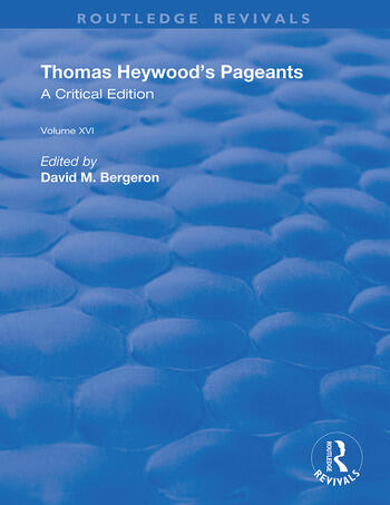 Thomas Heywood's Pageants book cover
