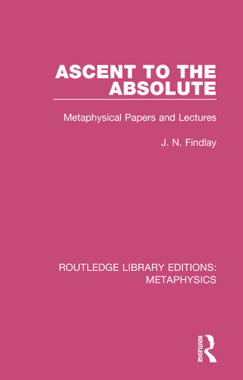 Ascent to the Absolute Metaphysical Papers and Lectures book cover