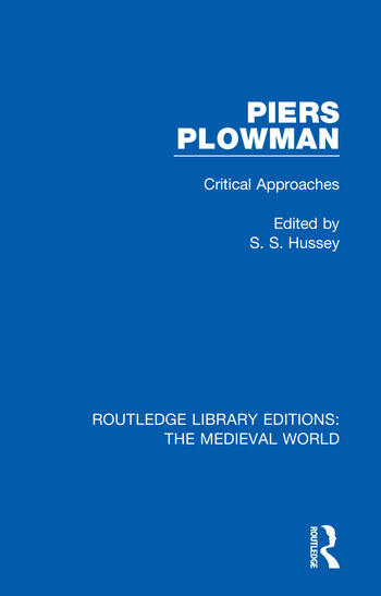 Piers Plowman Critical Approaches book cover