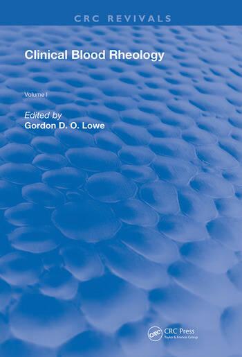 Clinical Blood Rheology Volume 1 book cover