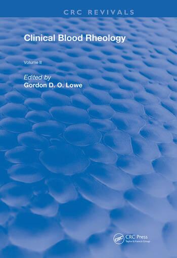 Clinical Blood Rheology Volume 2 book cover