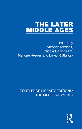 The Later Middle Ages book cover