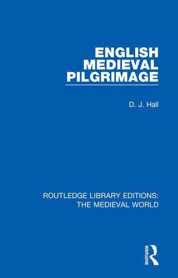 English Mediaeval Pilgrimage book cover