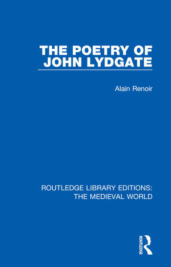 The Poetry of John Lydgate book cover