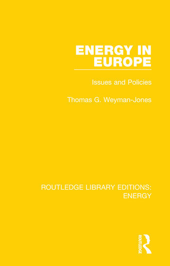Energy in Europe Issues and Policies book cover