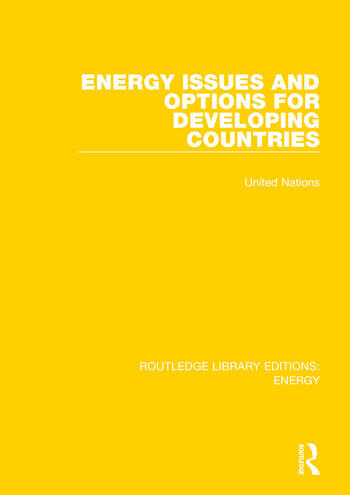 Energy Issues and Options for Developing Countries book cover
