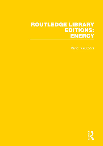 Routledge Library Editions: Energy book cover