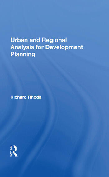 Urban And Regional Analysis For Development Planning book cover
